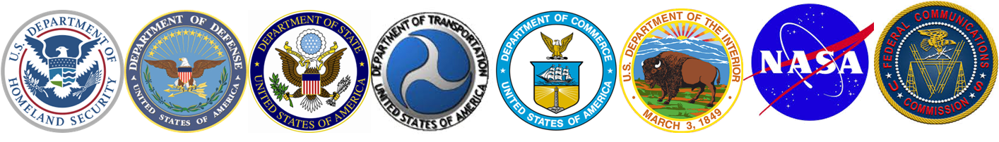 Logos from the eight different agencies that make up the National SAR Committee