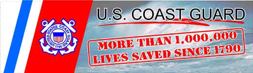 bumper sticker: USCG-- more than 1 million lives saved